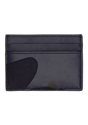 Valentino Navy Valentino Garavani Camo Card Holder
