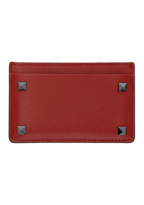 Valentino Red Valentino Garavani Rockstud Card Holder