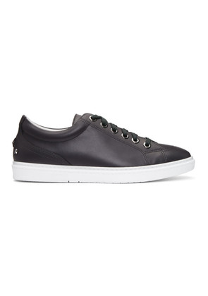 Jimmy Choo Grey Leather Cash Sneakers