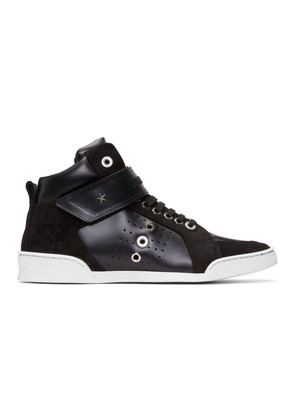 Jimmy Choo Black Lewis High-Top Sneakers