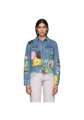 Loewe Indigo Paula's Ibiza Edition Patchwork Denim Jacket