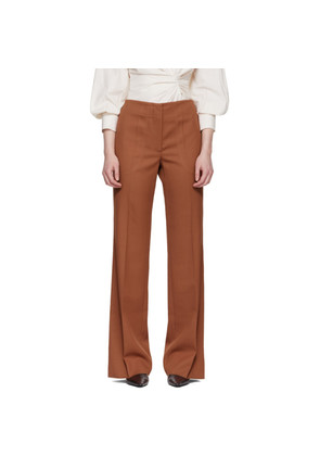 Victoria Beckham Pink Wool Trousers