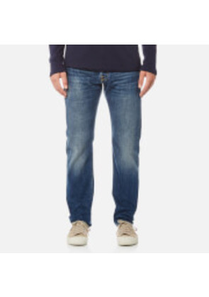 Edwin Men's ED-55 Regular Tapered Red Listed Selvedge Jeans - Retro Wash - W34/L32 - Blue