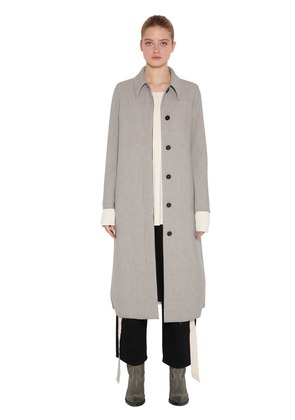 MIDI LENGTH CHECK BONDED COAT