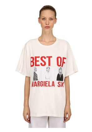 OVERSIZED BEST OF PRINT JERSEY T-SHIRT