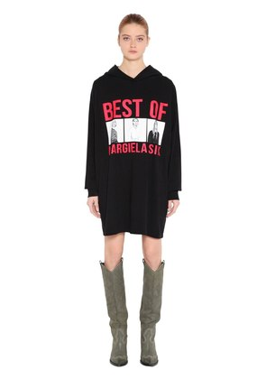BEST OF PRINT HOODED SWEATSHIRT DRESS