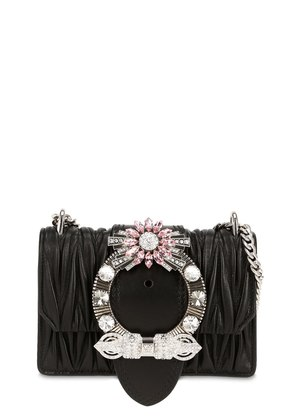 MED MIU LADY QUILTED LEATHER BAG