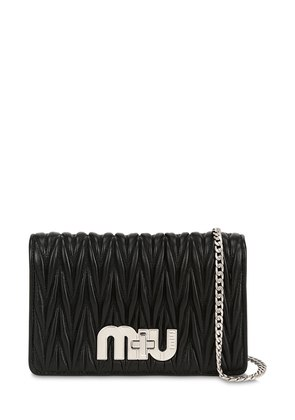 SMALL MY MIU QUILTED LEATHER BAG