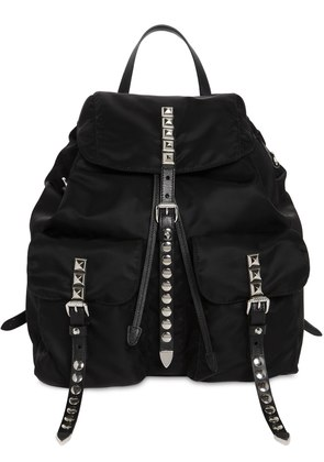 NYLON BACKPACK W/ STUDDED STRAPS