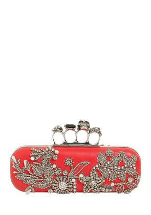 LONG LEATHER KNUCKLE CLUTCH