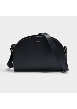 A.P.C. Demi Lune Bag in Dark Navy Leather