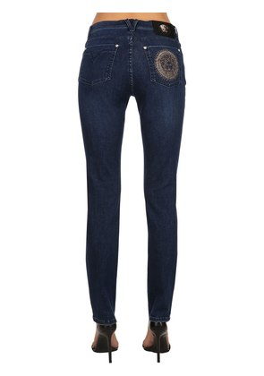 MEDUSA EMBELLISHED SLIM DENIM JEANS