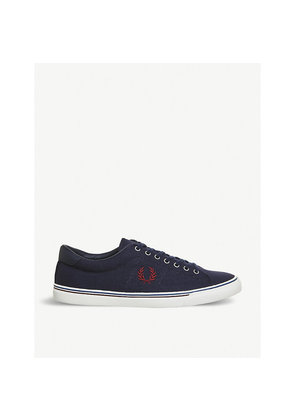 Underspin canvas trainers
