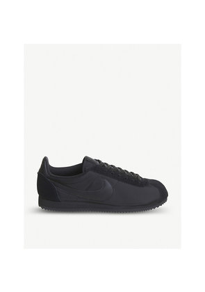 Cortez nylon and suede trainers