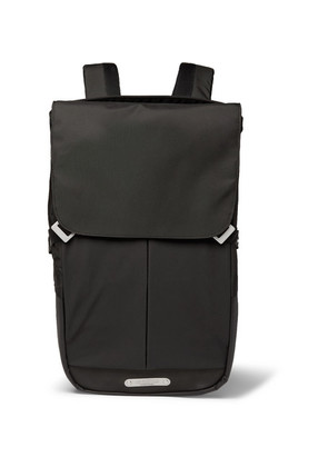 Brooks England - Pitfield Coated-nylon And Cordura Backpack - Black