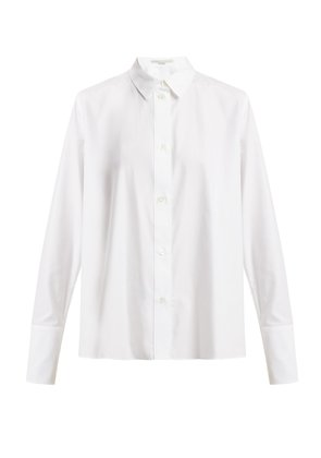 Oversized cuff cotton shirt