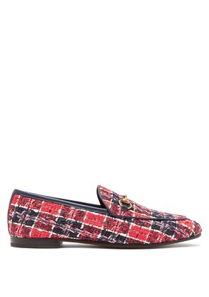 Jordaan check tweed loafers