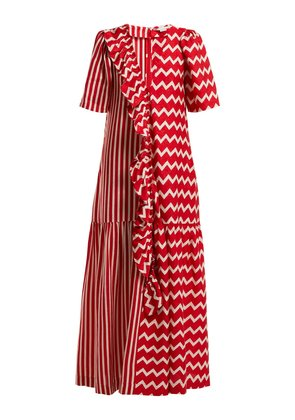 Gabrielle zigzag-print maxi dress