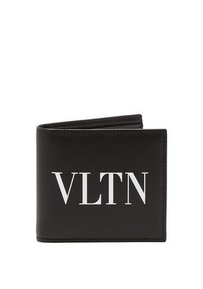 VLTN logo-print bi-fold leather wallet
