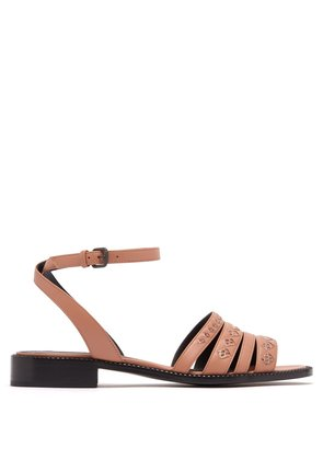 Ayer-woven leather sandals