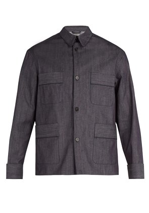 Denim workwear shirt