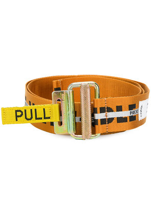 Heron Preston tape style belt - Yellow & Orange