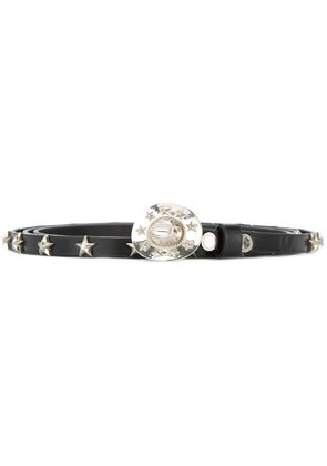 Takahiromiyashita The Soloist cowboy hat buckle belt with star studs -