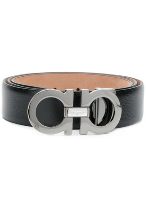 Salvatore Ferragamo double Gancini buckle belt - Black