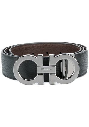 Salvatore Ferragamo double Gancino belt - Black
