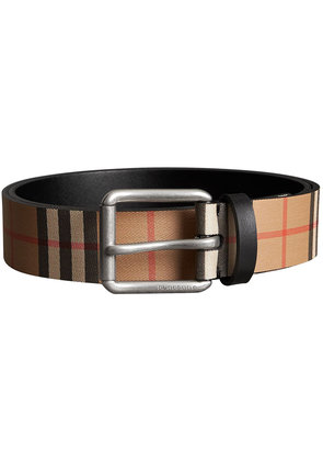 Burberry Vintage Check Leather Belt - Nude & Neutrals