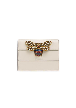 Gucci Queen Margaret leather card case - White