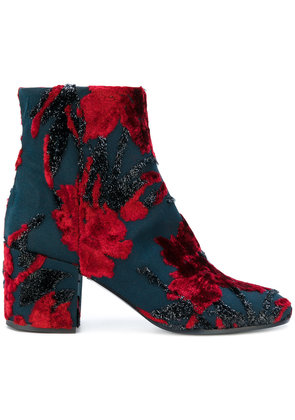 P.A.R.O.S.H. floral block heel boots - Red