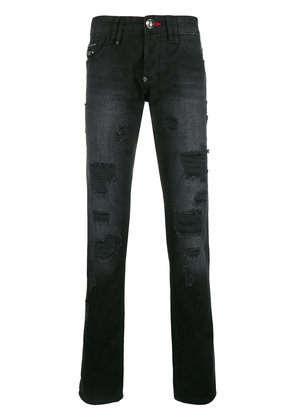 Philipp Plein distressed slim jeans - Black