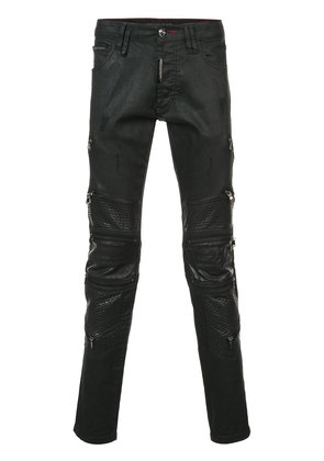 Philipp Plein Zipped Super Straight Cut jeans - Black