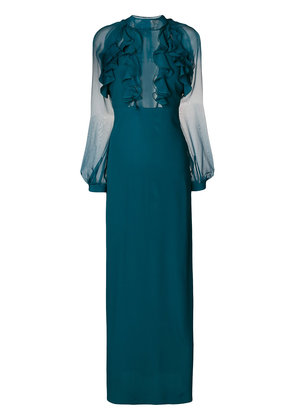 Dsquared2 ruffle trim evening dress - Green