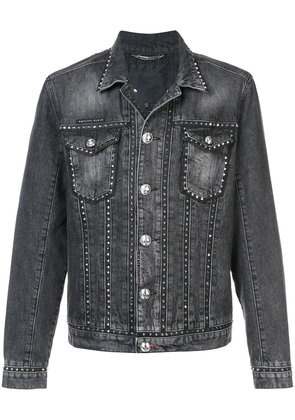 Philipp Plein Studded denim jacket - Black