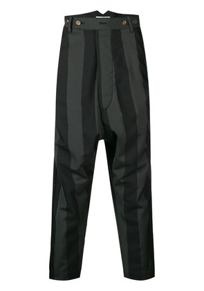 Vivienne Westwood cropped striped trousers - Black
