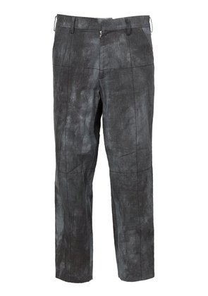Aganovich faded print cropped trousers - Grey