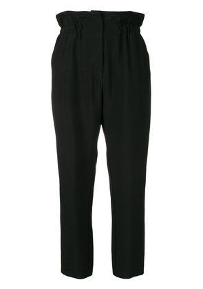Iro high-waisted cropped trousers - Black