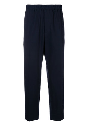 Jil Sander cropped dropped crotch trousers - Blue