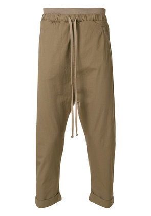 Thom Krom cropped dropped crotch trousers - Green