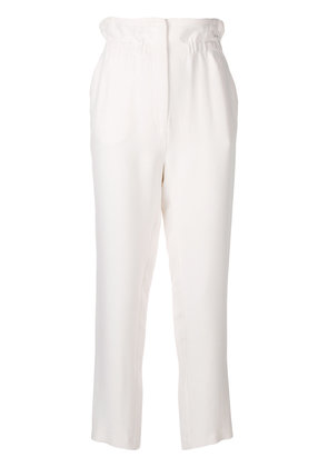 Iro high-waisted cropped trousers - White