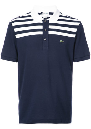 Lacoste striped top polo shirt - Blue
