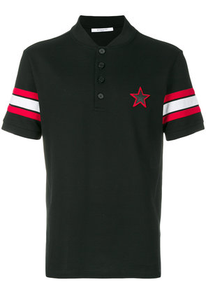 Givenchy star patch polo shirt - Black