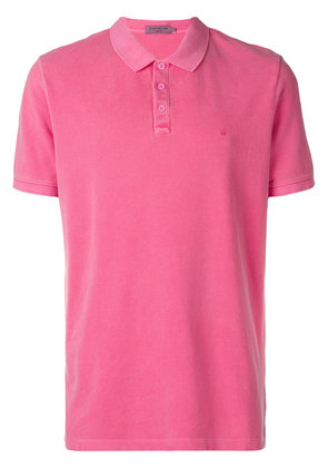 Calvin Klein Jeans classic short-sleeve polo top - Pink & Purple
