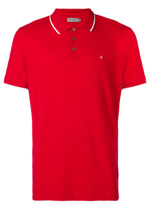 Calvin Klein Jeans classic short-sleeve polo top - Red