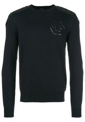 Philipp Plein chest logo jumper - Black