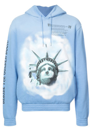 Off-White Statue of Liberty hoodie - Blue