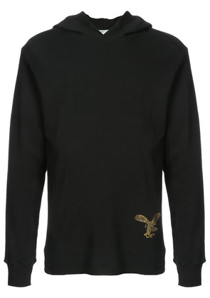 Off-White embroidered hooded sweatshirt - Black