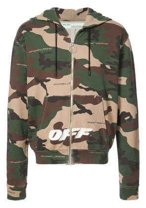 Off-White camouflage print hoodie - Brown
